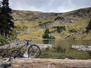 Mountain bike at Lost Lake on the Carson National Forest