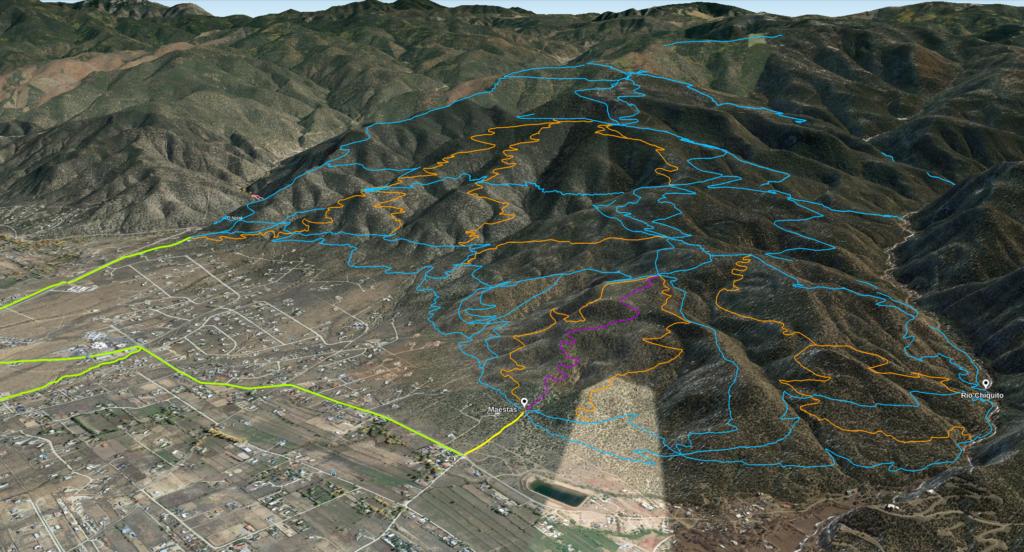 Talpa Ridge Trail Plan from South